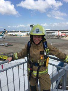 Kristin Fire Fighter Corner shot of airport