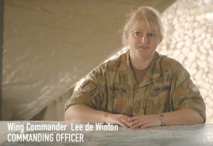 WIA-Lee-De-Winton-RAAF-Sitting-at-Desk