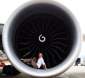 Women-in-Aviation-Flight-Attendent-in-engine
